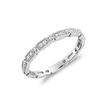 Milgrain Diamond Stackable Ring