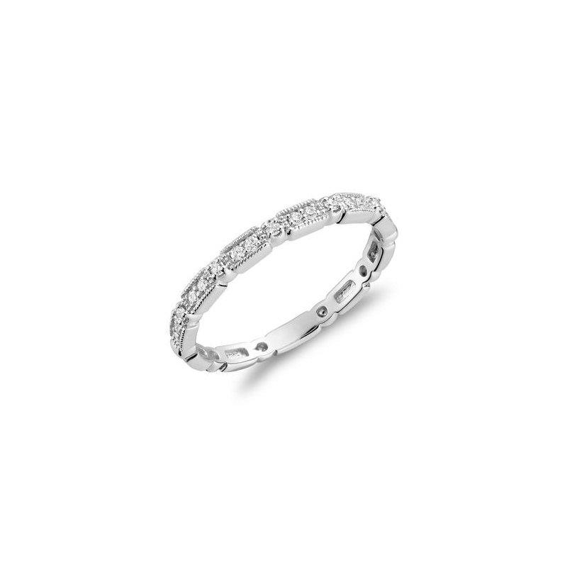 RNB Bijoux Jewellery Milgrain Diamond Stackable Ring