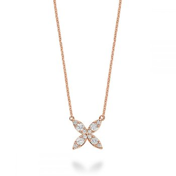 Marquise Flower Diamond Necklace