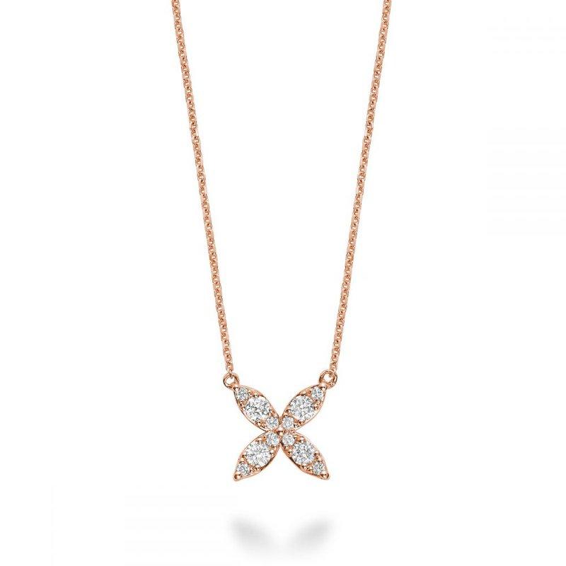 RNB Bijoux Jewellery Marquise Flower Diamond Necklace