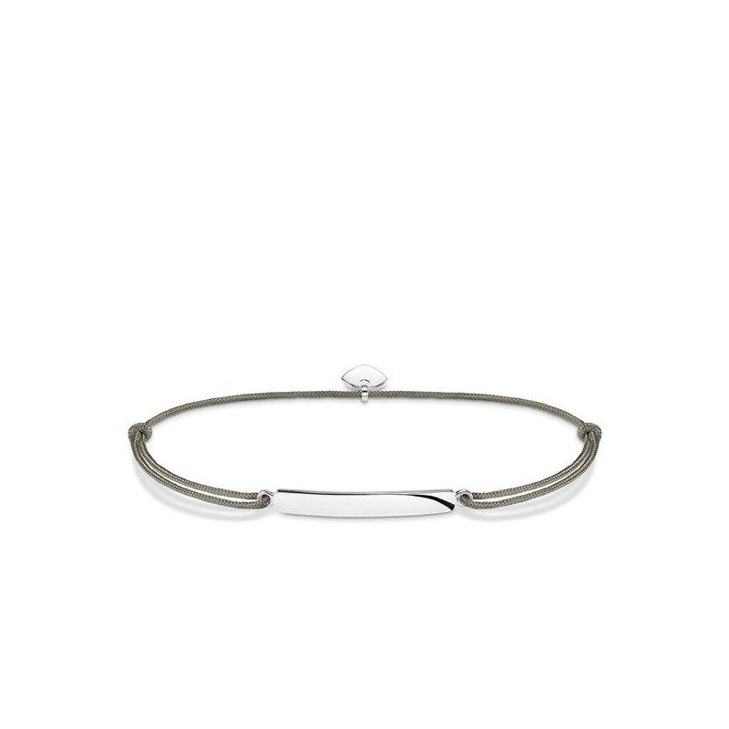 """Thomas Sabo Green Textile bracelet """"Little Secret Classic"""""""