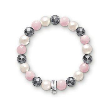 Charm Bracelet Pink, White, Grey