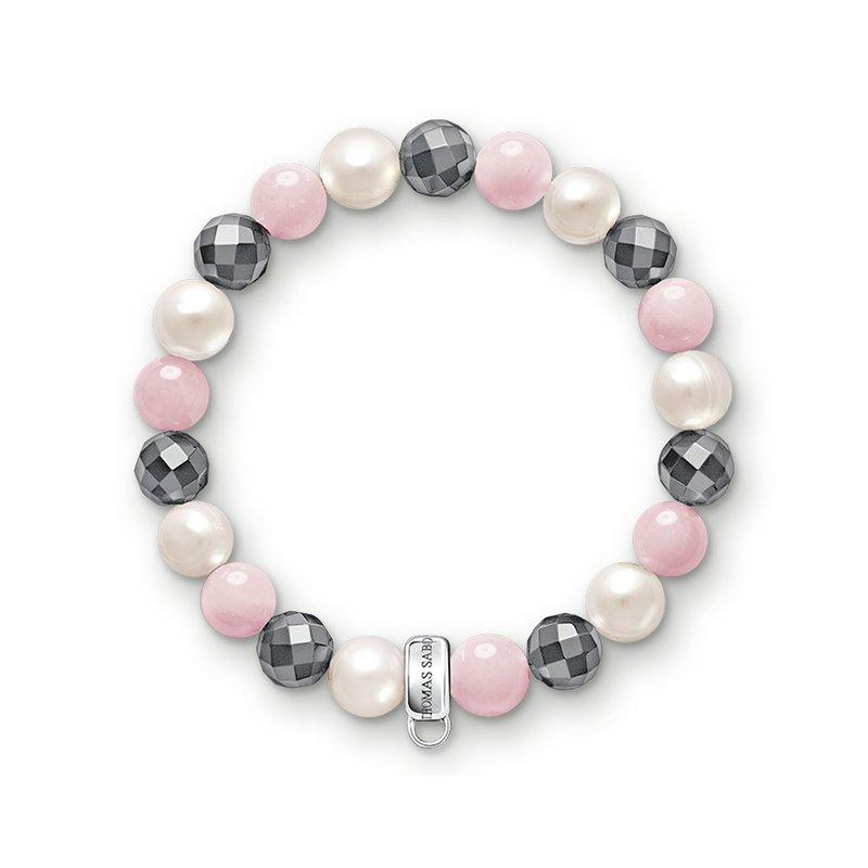 Thomas Sabo Charm Bracelet Pink, White, Grey
