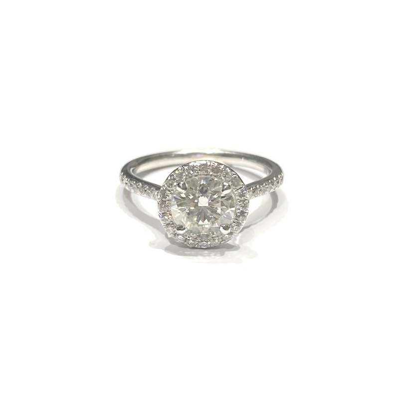 The Collection Halo Diamond Engagement Ring