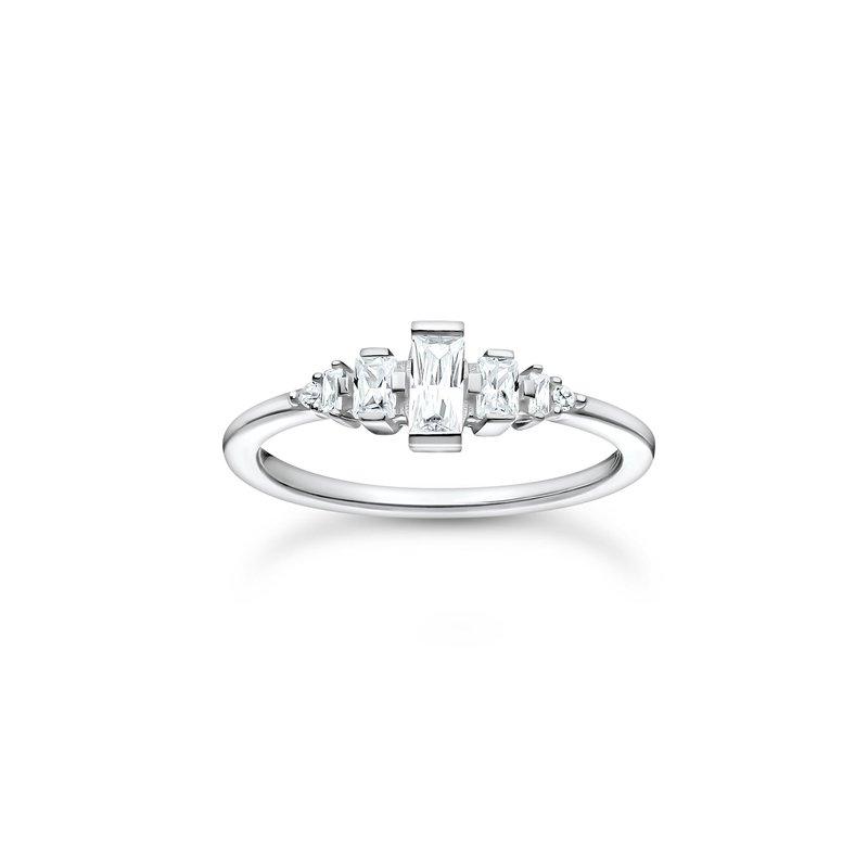 Thomas Sabo Ring, Vintage White Stones Silver