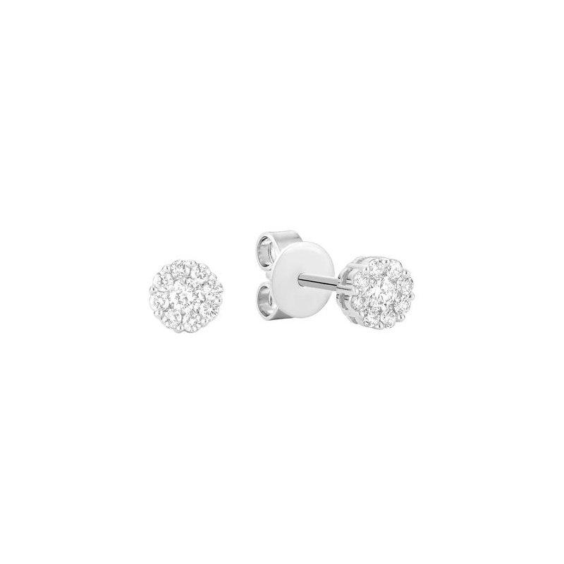 RNB Bijoux Jewellery Diamond Flower Stud Earrings