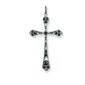 Black CZ Cross