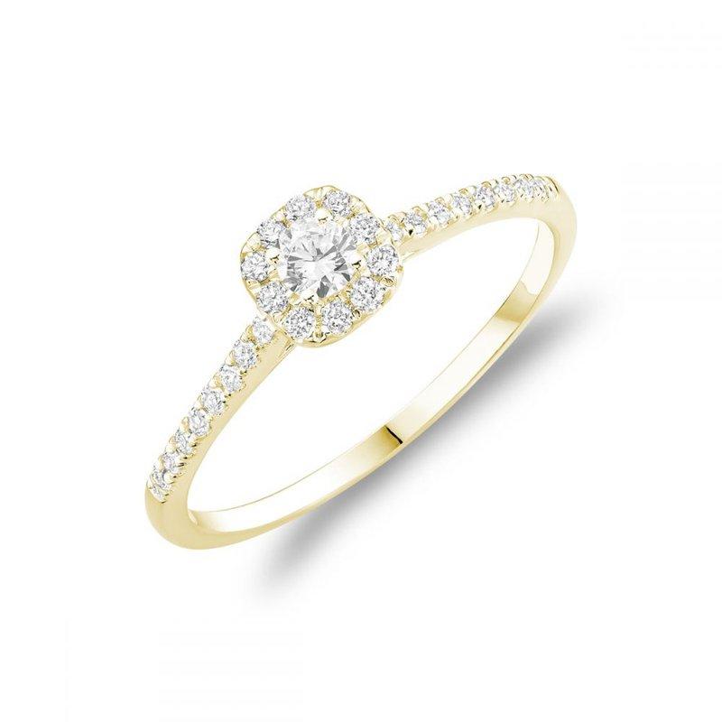 RNB Bijoux Jewellery Cushion Diamond Halo Engagement Ring