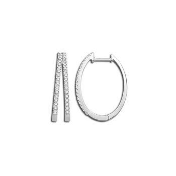 Diamond Split Hoop Earrings