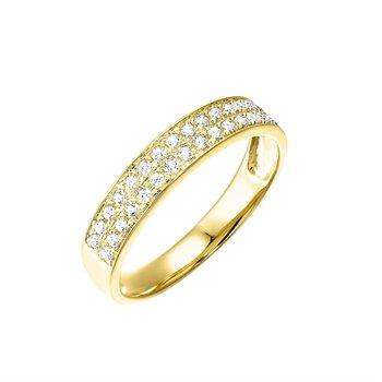 Double Row Diamond Ring