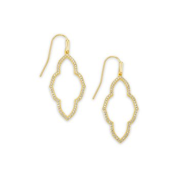Abbie Small Open Frame Earring in Gold