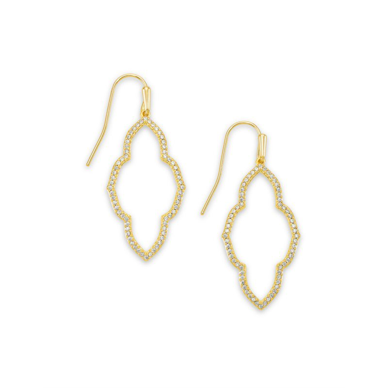 Kendra Scott Abbie Small Open Frame Earring in Gold