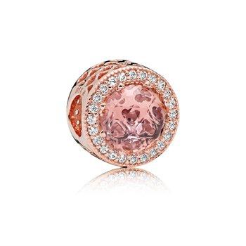 Radiant Hearts Pandora Rose Blush Crystal Charm