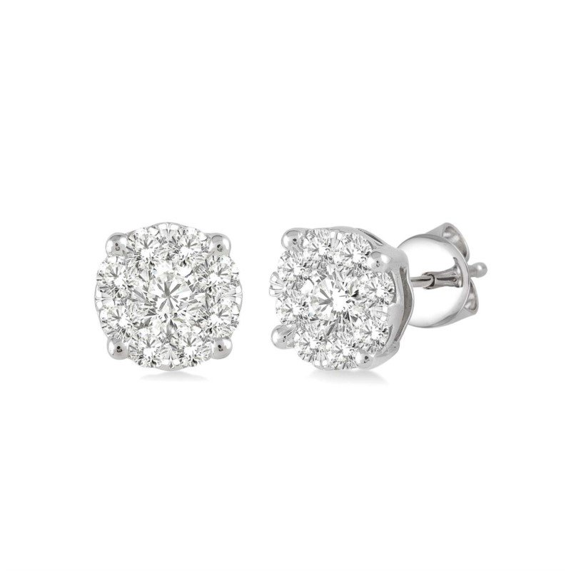 Kelley Collection  Diamond Cluster Studs