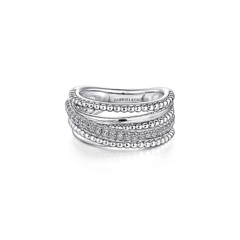 Gabriel NY Fine Jewelry Bujukan Beaded Sapphire Ring