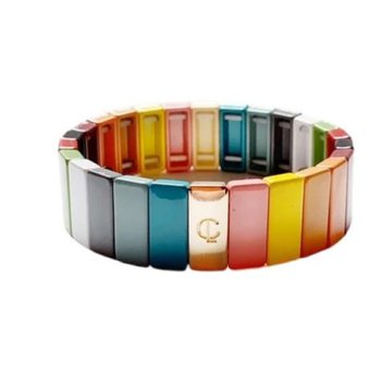 Tile Bracelet-Fall Rainbow Large