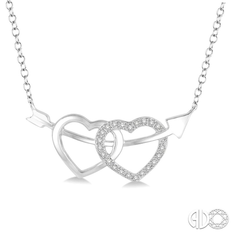 Kelley Collection  Double Heart Diamond Necklace