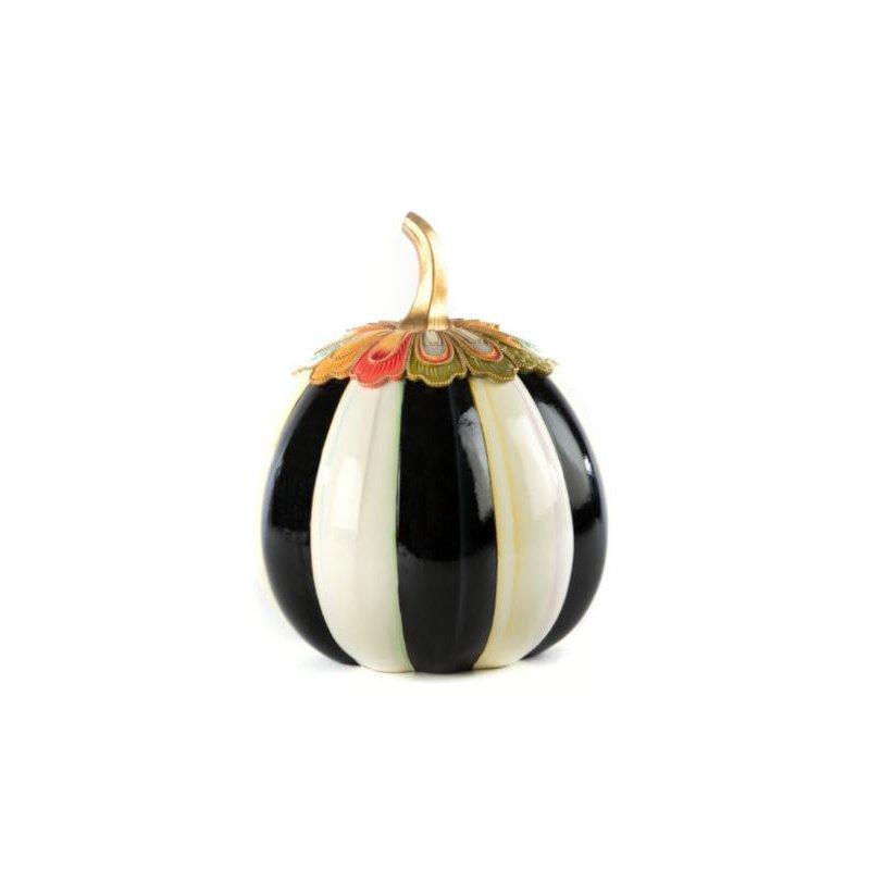 MacKenzie-Childs Aurora Stripe Pumpkin - Large