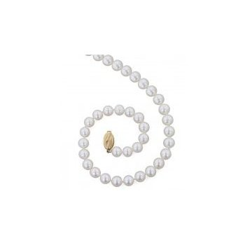 Classic White Freshwater Cultured Pearl Strand (8+mm)