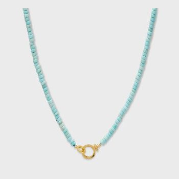 Parker Gem Necklace (Turquoise)