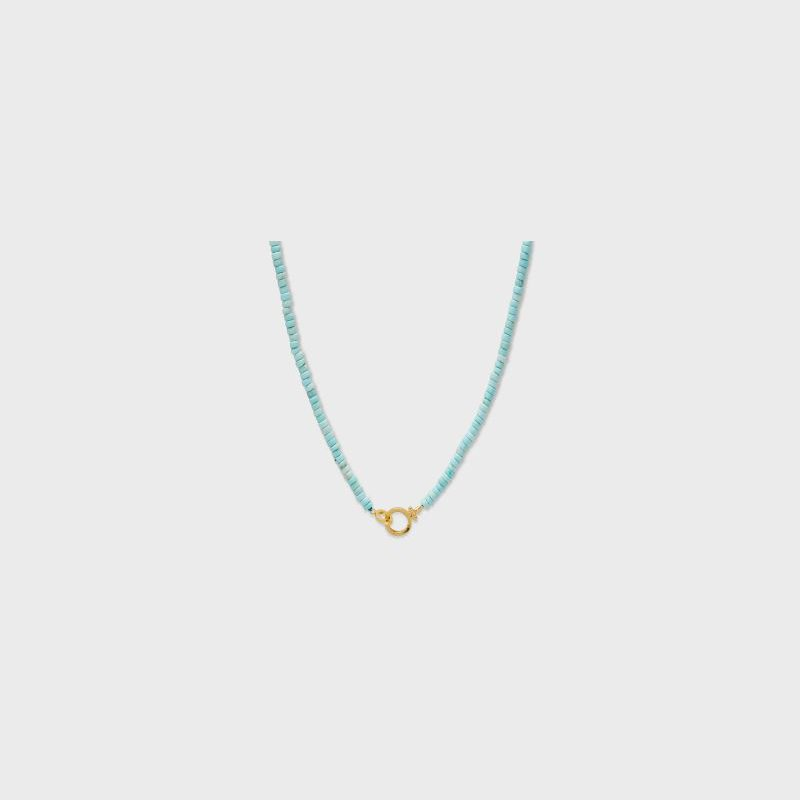 Gorjana Parker Gem Necklace (Turquoise)