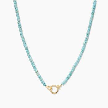 Parker Gem Necklace (Turquoise)