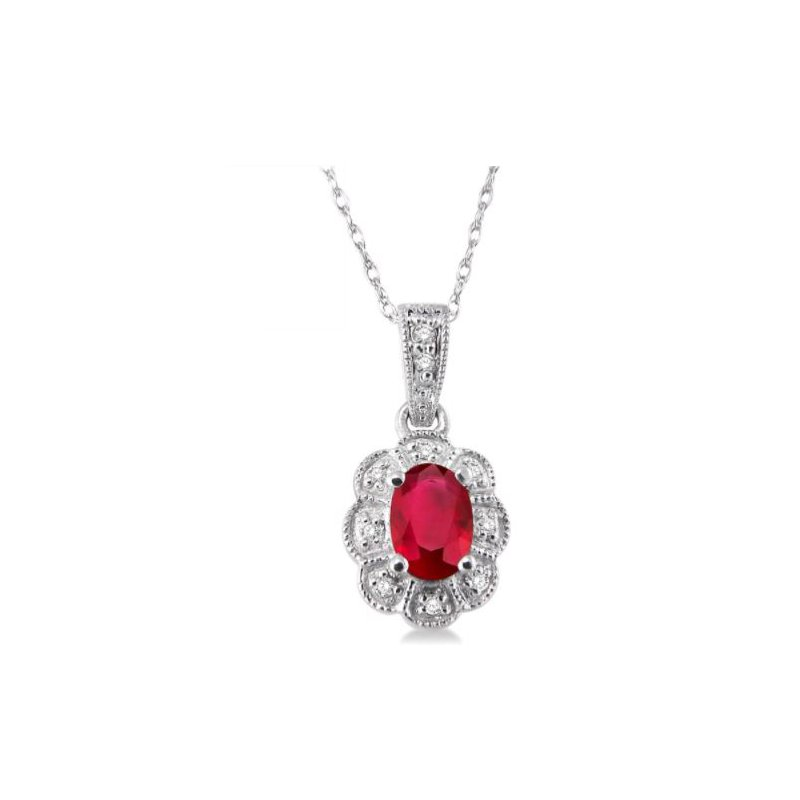 Kelley Collection  Ruby and Diamond Pendant