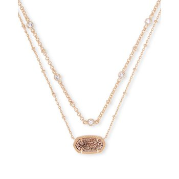Elisa Multi-Stand in Rose Gold Drusy