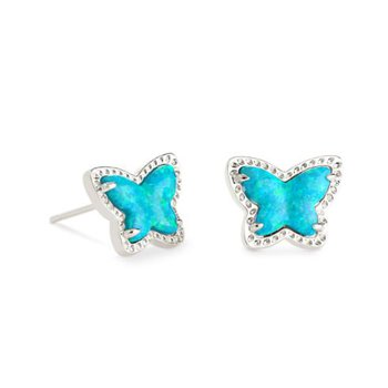 Lillia Butterfly Studs in Turquoise Opal