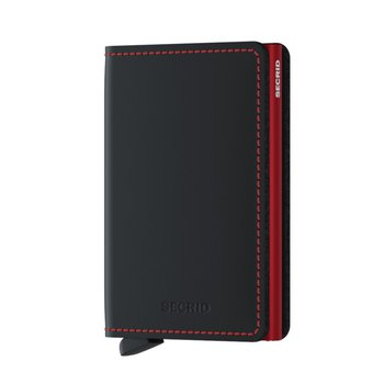 Slimwallet in Matte Black and Red