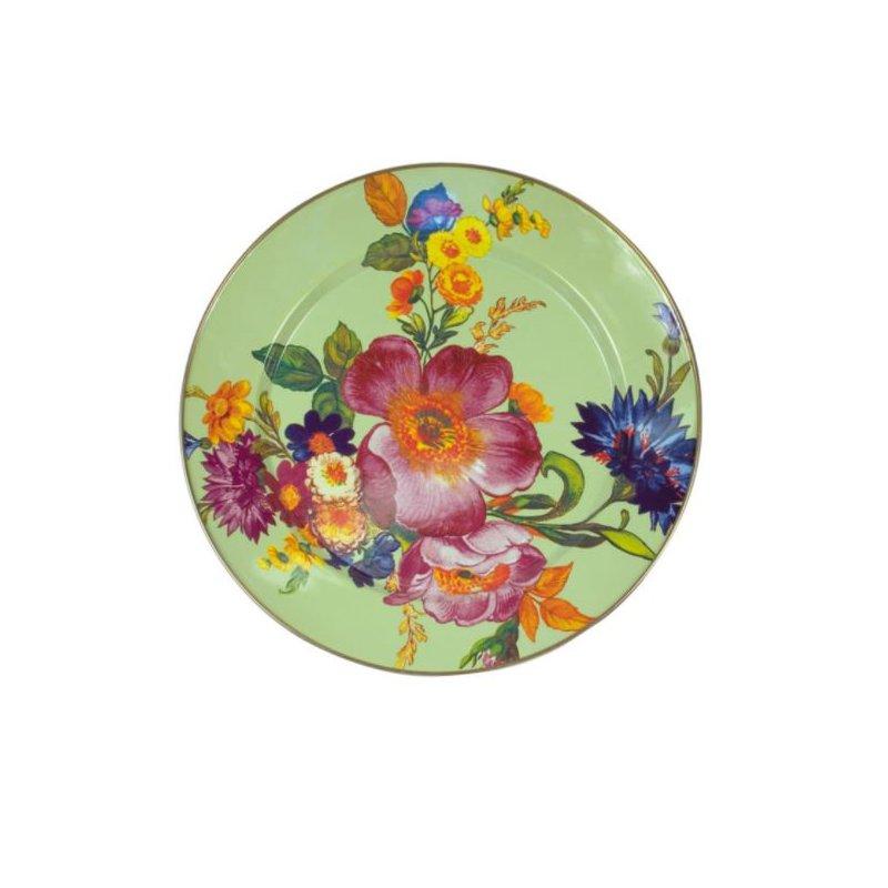 MacKenzie-Childs Flower Market Charger/Plate - Green