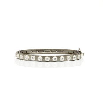 Studded Eternity Hinge Bangle