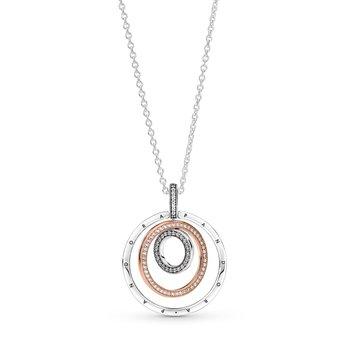 Two-Tone Circles Pendant & Necklace