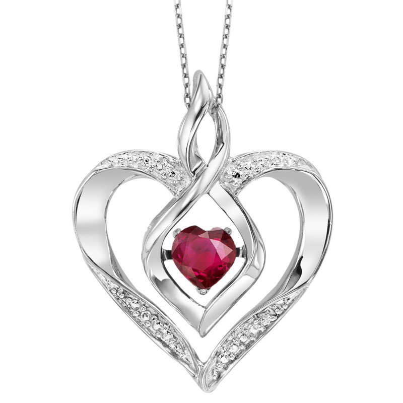 Kelley Collection  Rhythm of Love Ruby Pendant