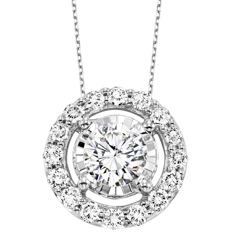 Kelley Collection  Diamond Halo Pendant