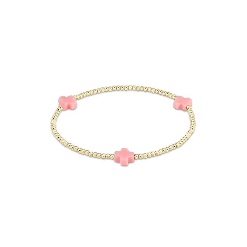 ENewton Design Signature Cross Pattern Bracelet - Pink