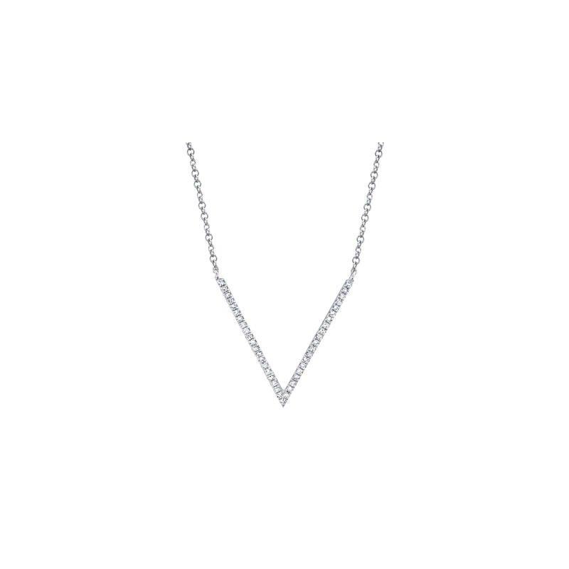 Kelley Collection  Diamond V Necklace