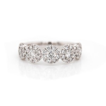 5-Stone Diamond Halo Ring