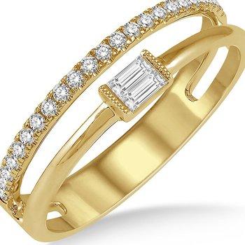 Diamond Split Baguette Ring