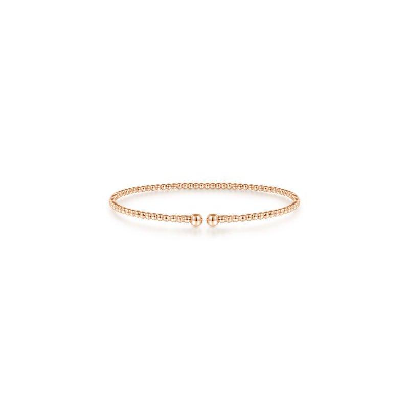 Gabriel NY Fine Jewelry Rose Gold Beaded Bujukan Bangle