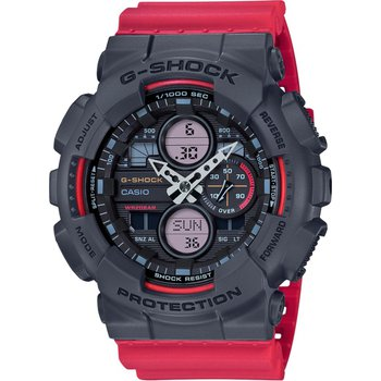 GA Series Digital/Analog Watch  in Red & Black Resin
