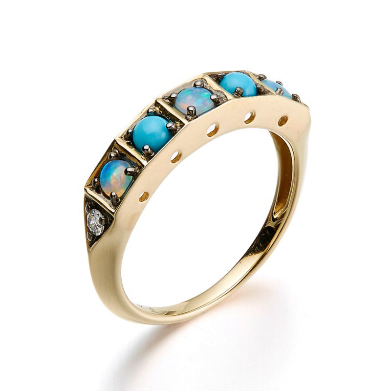Kelley Collection  Multi-Stone Cirque Ring