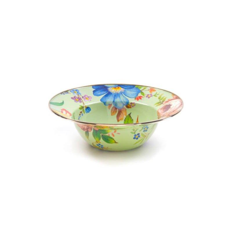 MacKenzie-Childs Flower Market Serving Bowl - Green