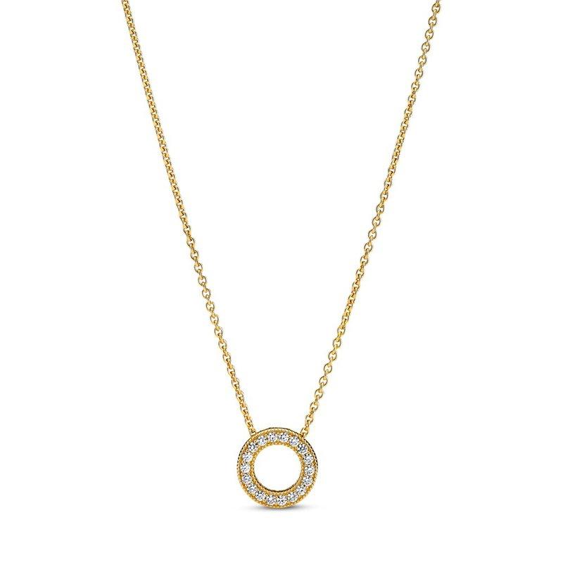 PANDORA Pandora Logo Pavé Circle Collier Necklace