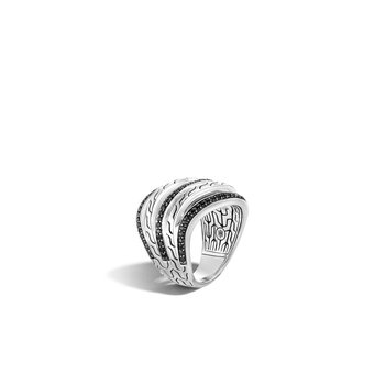 Classic Motif Pavé Stacked Ring