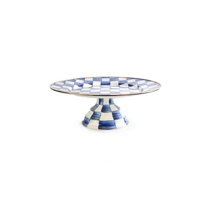 MacKenzie-Childs Royal Check Pedestal Platter - Large