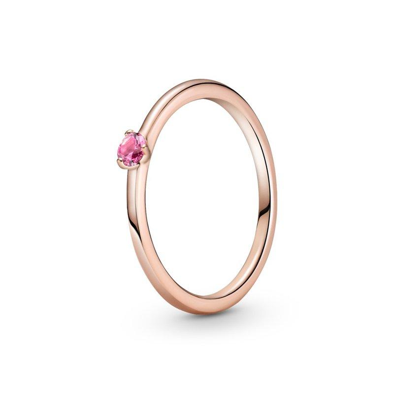 PANDORA Pink Solitaire Ring