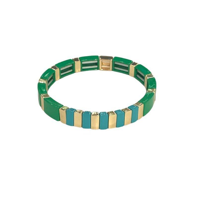 Caryn Lawn High Tide Tile Bracelet-Green/Turquoise