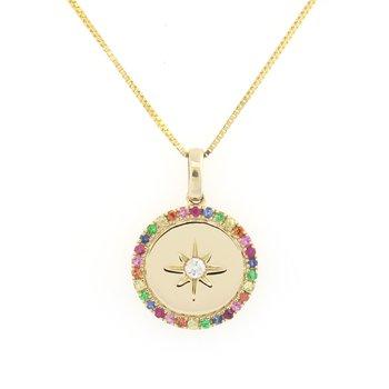 Gemstone Compass Pendant
