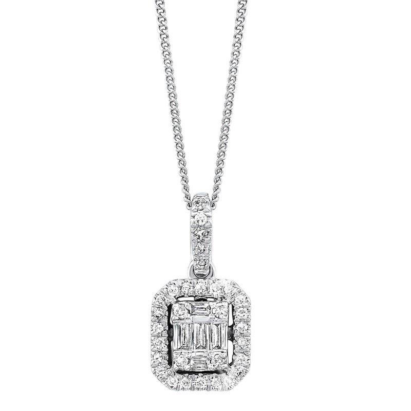 Kelley Collection  Time Square Diamond Pendant